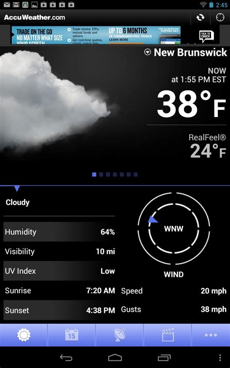 accuweather app for android free must apps for your new android tablet ars technica