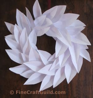 How To Make A Paper Wreath - how to make paper wreaths