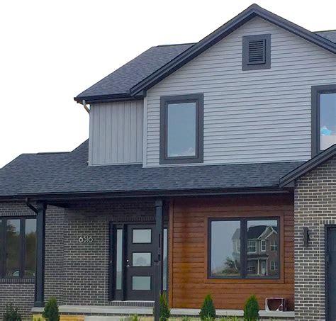 Mid Century Modern Window Trim by Grey House Black Garage Doors Doortodump Us