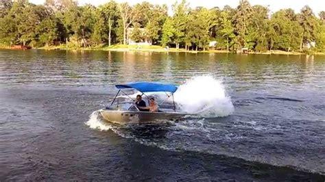 mini y boat mini jet boat donut slo mo youtube