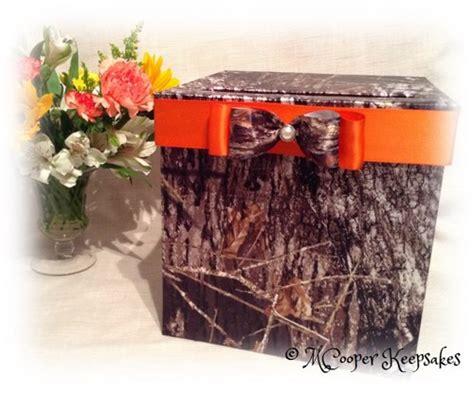 Mossy Oak Gift Card - mossy oak satin camo orange card box mcooperkeepsakes wedding on artfire
