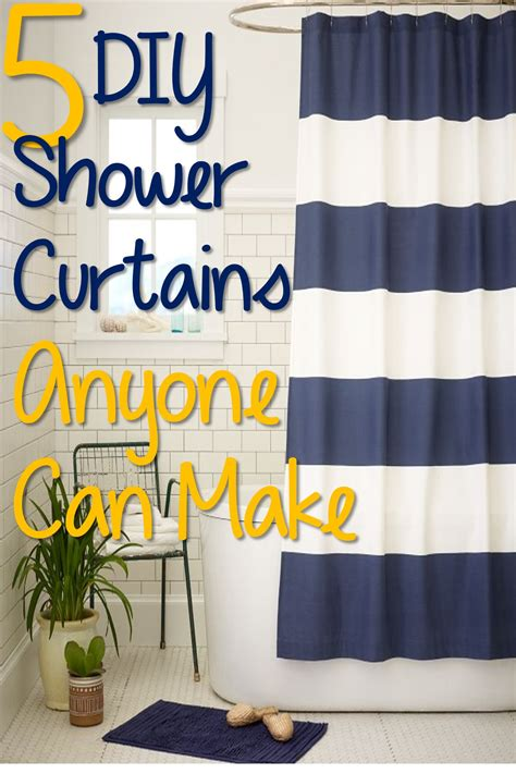 diy bathroom curtains 5 diy shower curtains anyone could make you put it up
