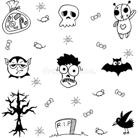 doodle ghost and ghost doodle stock vector