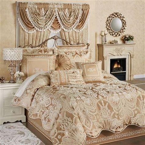 monarch comforter set goldbronze luxurybeddinggold