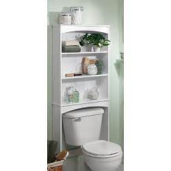 Bathroom Shelves White Three Shelf Wood Bathroom Spacesaving Unit White Walmart