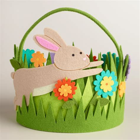 pattern for felt easter basket large oval felt grass easter basket world market