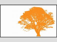 Tree, Light Orange Silhouette, White Background Clip Art ... Oak Leaf Pictures Clip Art