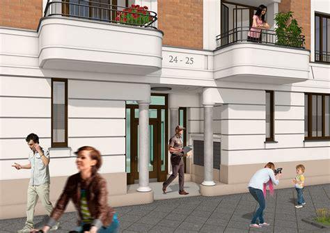 architekturvisualisierung berlin aussenansicht katharinenpalais eingang 3d