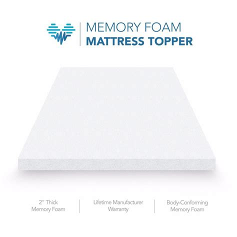 2 Memory Foam Mattress Topper 2 Memory Foam Mattress Topper Bed Pad By Pharmedoc All Sizes Available Kathstore