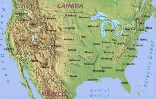 geographical map of usa and canada cartina degli usa mappa dei 50 stati e schede
