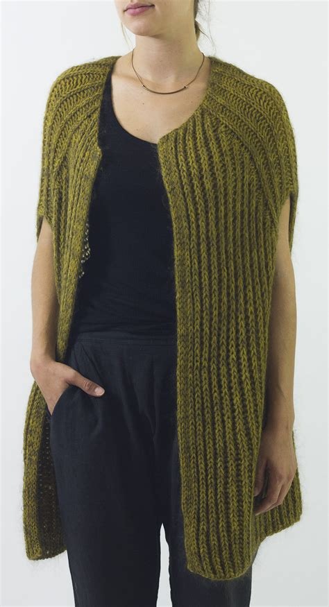 knitting pattern simple vest versatile vest knitting patterns in the loop knitting