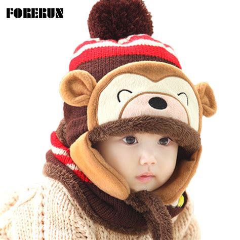 Winter Mask Masker Khusus Musim Dingin Masker Winter 2016 hewan hat scarf set anak monyet topi beludru topi bomber topi lucu musim dingin topi
