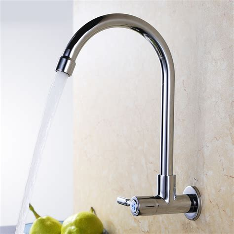 kitchen faucet cheap cheap wall mounted cold water only copper kitchen faucet