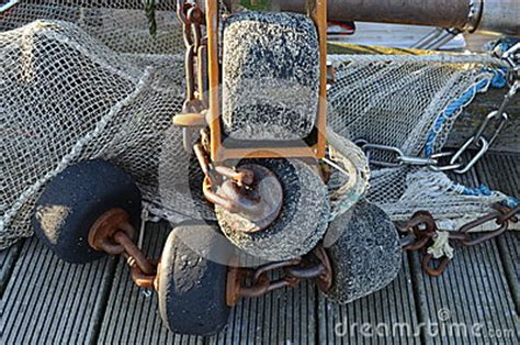 crab rubber st fishing gear of a shrimp boat royalty free stock