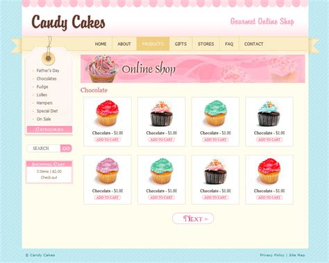 Chocolate Coffee Cupcakes Html By Dtbaker Themeforest Cupcake Website Template