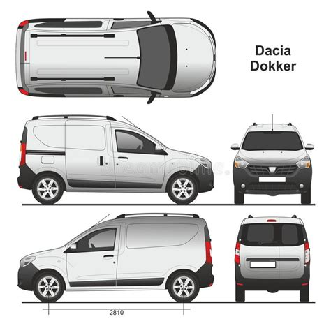 renault dokker white dacia dokker van 2013 editorial photo illustration of