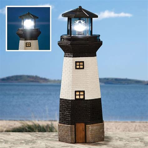 Lighthouse Solar Light Solar Powered Garden Light House Lighthouse Ornament With