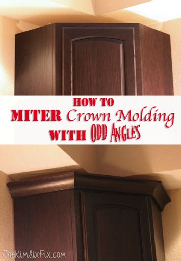how to cut crown molding angles for kitchen cabinets april 2015 the kim six fix