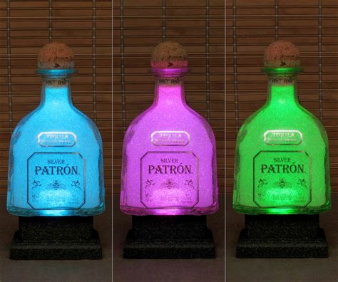chagne bottle 750ml patron silver tequila color changing led bottle l