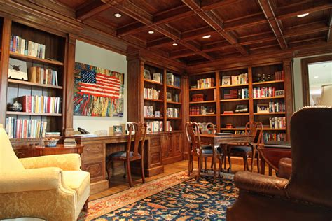 and bookshelves home office traditional with built in desk