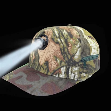 1pcs Baseball Camo Cap Led Hat With Lights Camping Fishing Camo And Lights