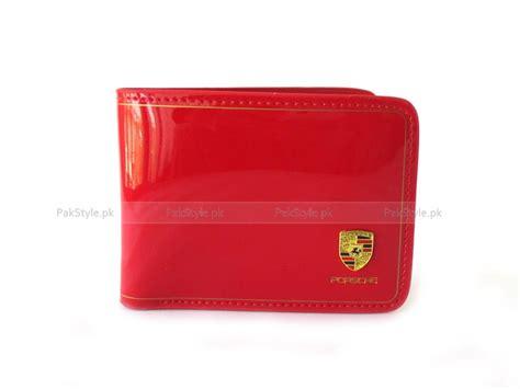 Porsche Portemonnaie by Porsche Glossy Leather Wallet Red Price In Pakistan