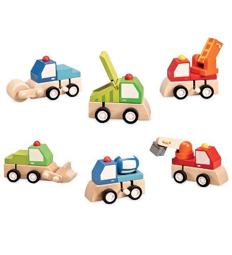 magic cabin toys set of 6 magic cabin wooden wind up trucks toys toys