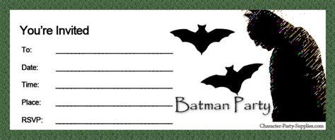 Batman Printable Birthday Card Party Invitations Super Heroes Batman Party Invitations