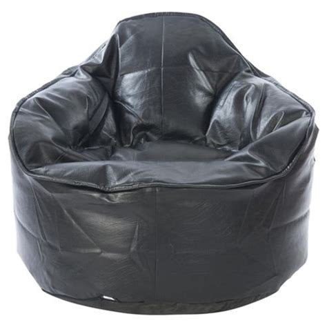 faux leather bean bag chair buy kaikoo faux leather bean bag palm chair black from