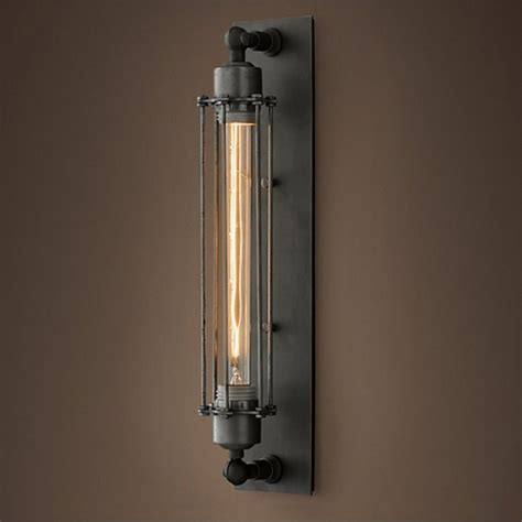 Edison Light Sconce by Grand Edison Steel Caged Sconce Wall Light Cult Uk