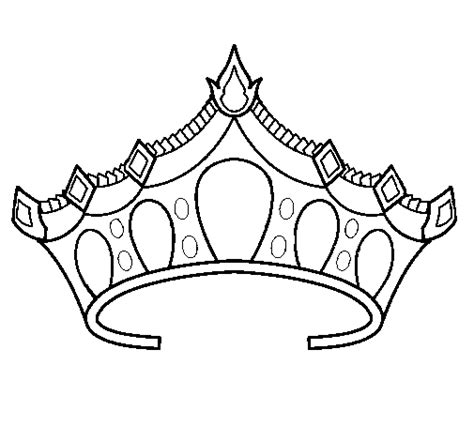 simple crown coloring page draw princess tiara clipart best