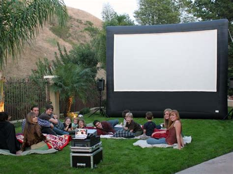 backyard theater ideas for outdoor movie screen outdoortheme com