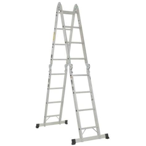 Home Depot 8 Ft Ladder by Werner 16 Ft Aluminum Folding Multi Position Ladder With