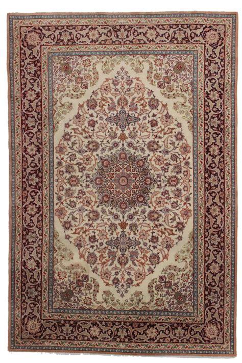 Rug 5 X 7 by 5 X 7 Silk Isfahan Rug 14155