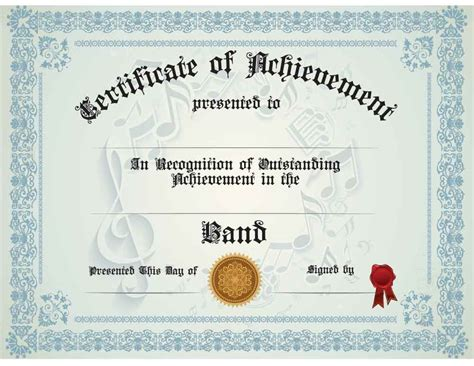 templates for music certificates buy band achievement certificate awards trophies