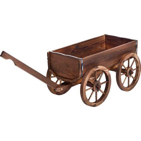 stonegate designs wooden wagon planter model xl103