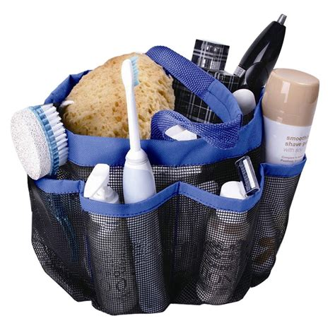 Shower Caddy 8 Pocket Toilet Organizer Sc 8 pockets shower caddy mesh portable travel tote carry handle
