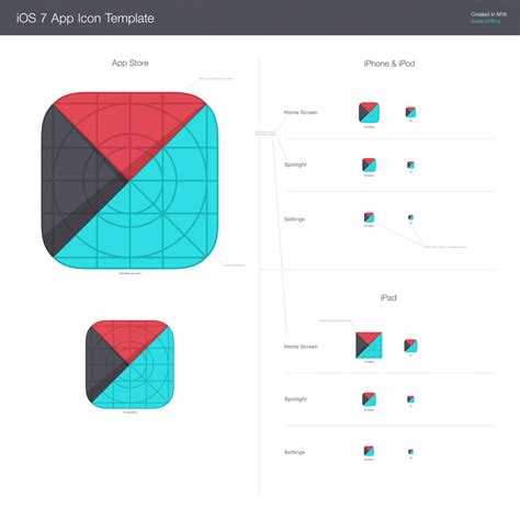 ios app template template for ios 7 app icons