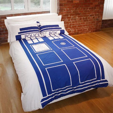 tardis bed doctor who tardis double duvet set