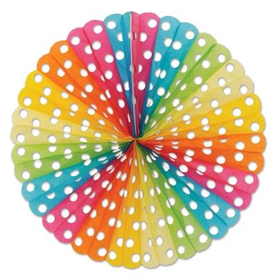 Tisu Polkadot By Our multi color polka dot tissue fan partycheap
