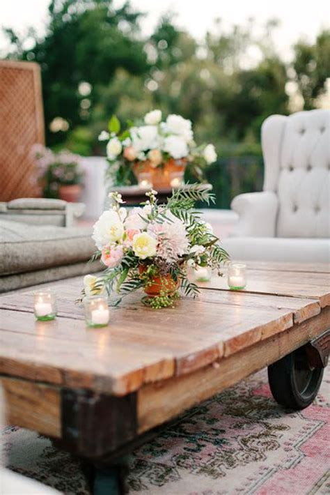 coffee table flower decorations outdoor living room decor ideas
