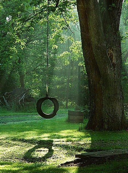 life is just a tire swing old tire swing by patricia a swinging is therapy finding