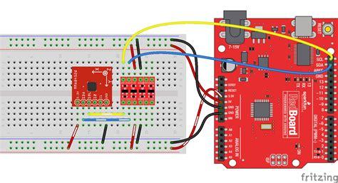 tutorial arduino accelerometer mma8452q accelerometer breakout hookup guide learn