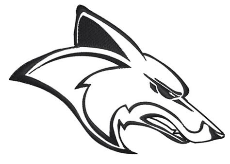 Animals Embroidery Design: Coyote Head Outline from King