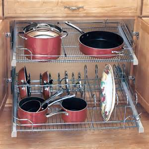 Kitchen Cabinet Pot Organizer Cabinet Organizers Kitchen Cabinet Organizers By Hafele Rev A Shelf Knape Vogt Omega