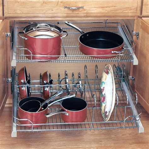 pull out cabinet organizer for pots and pans pull out baskets kitchen cabinet ideas