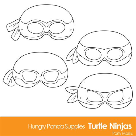 printable ninja mask turtle printable coloring masks turtle mask by