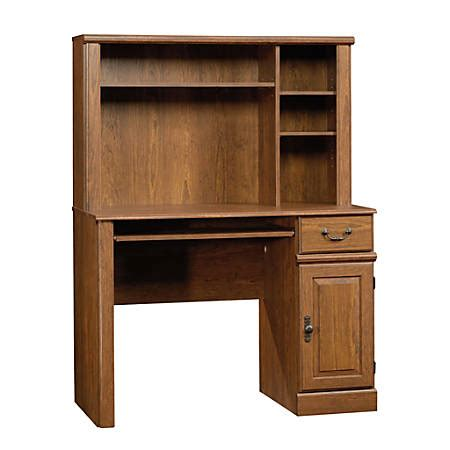 sauder orchard computer desk with hutch in milled cherry sauder orchard computer desk with hutch 42 58 w