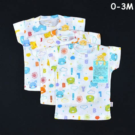 Libby Celana Pendek Motif Newborn grosir baju bayi newborn oblong pendek rib baby motif 0 3