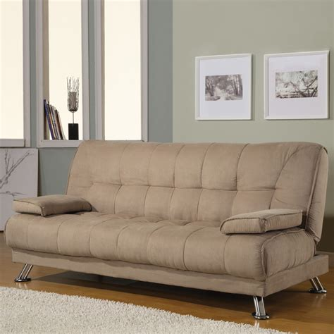 coaster futon shop coaster fine furniture tan futon at lowes com